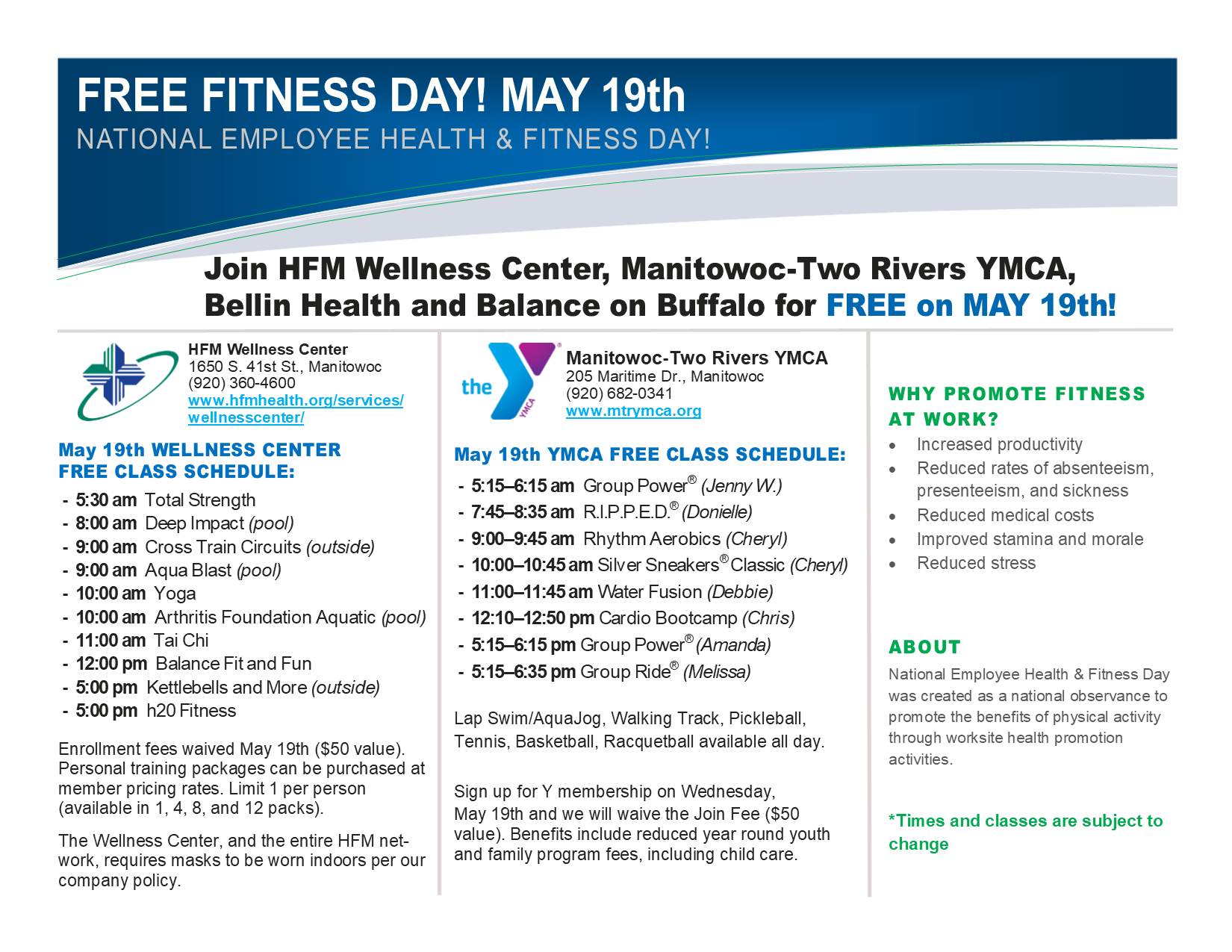 National Employee Health and Fitness Day 2021