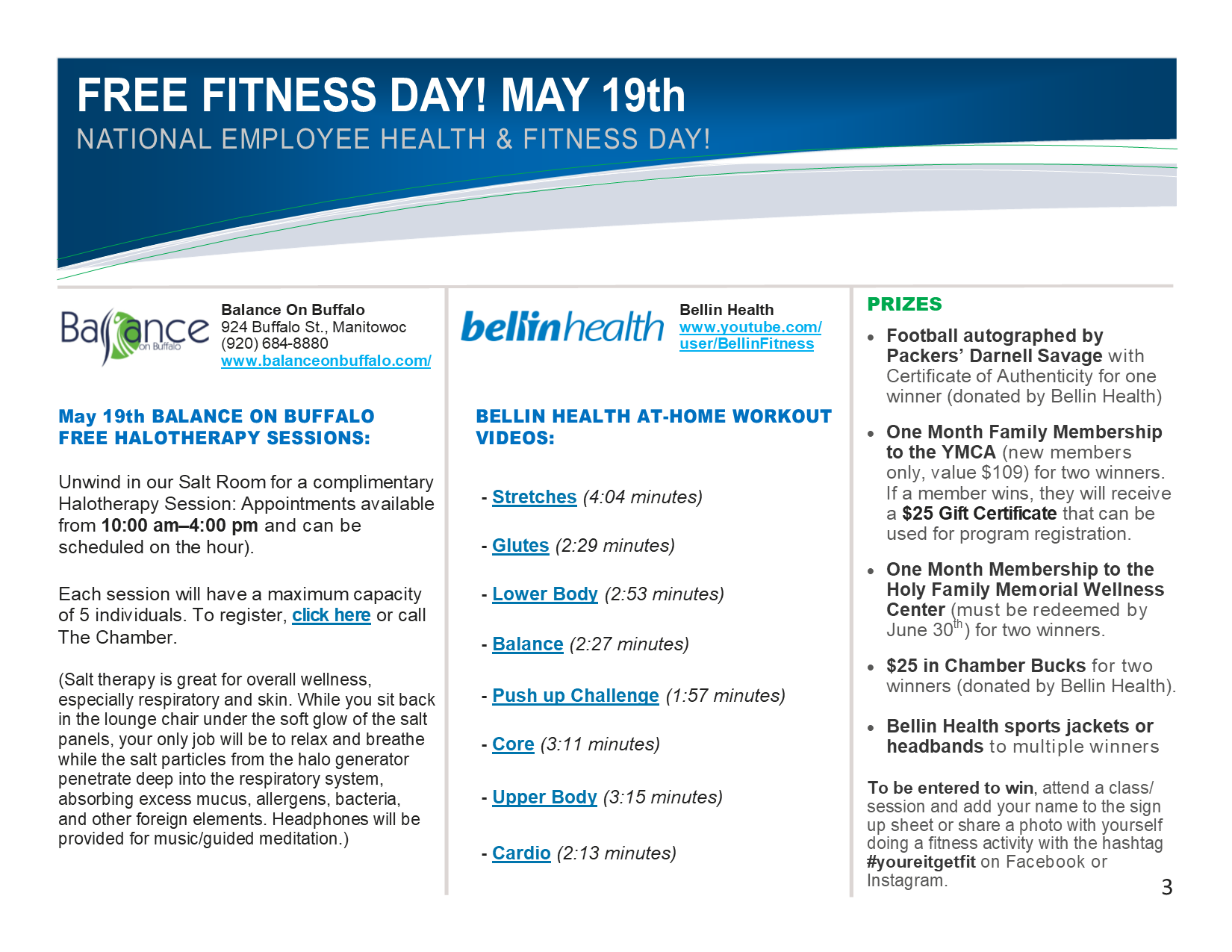 National Employee Health and Fitness Day 2021 - Manitowoc