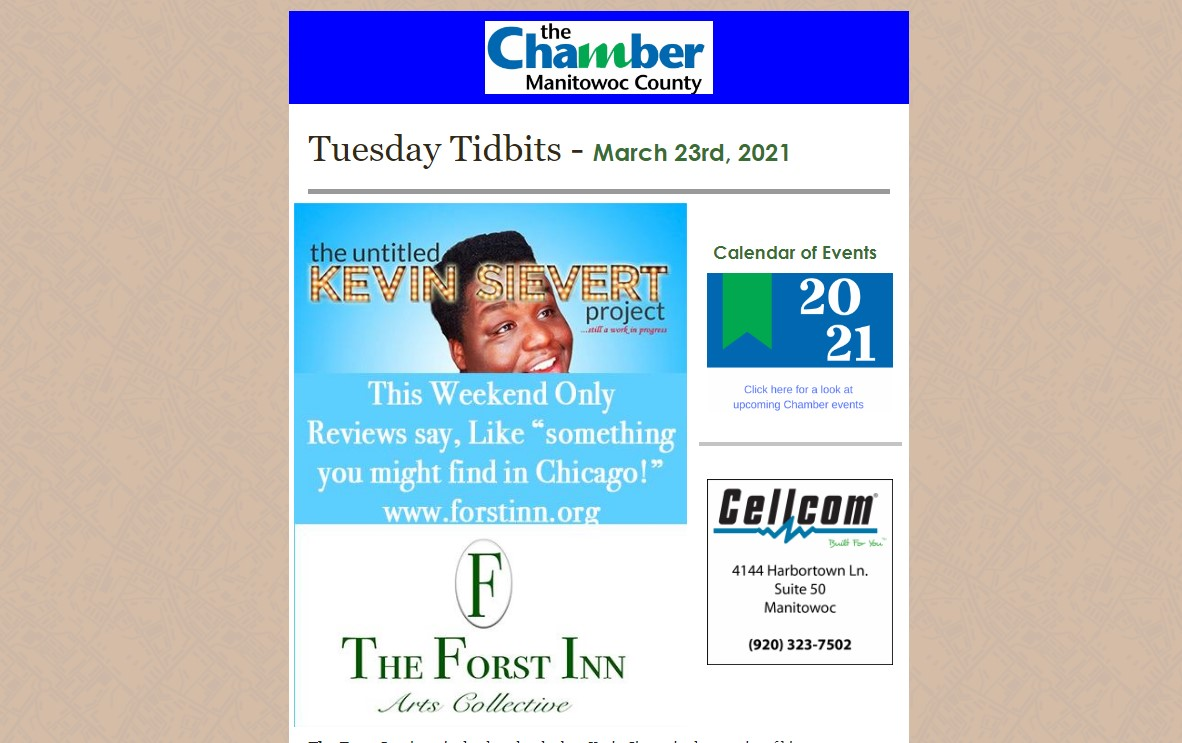 Tuesday Tidbits The Chamber of Manitowoc County
